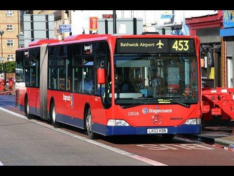 Bathwick & Somerset: Route 453 Full Route Visual: Bury To Bathwick Airport