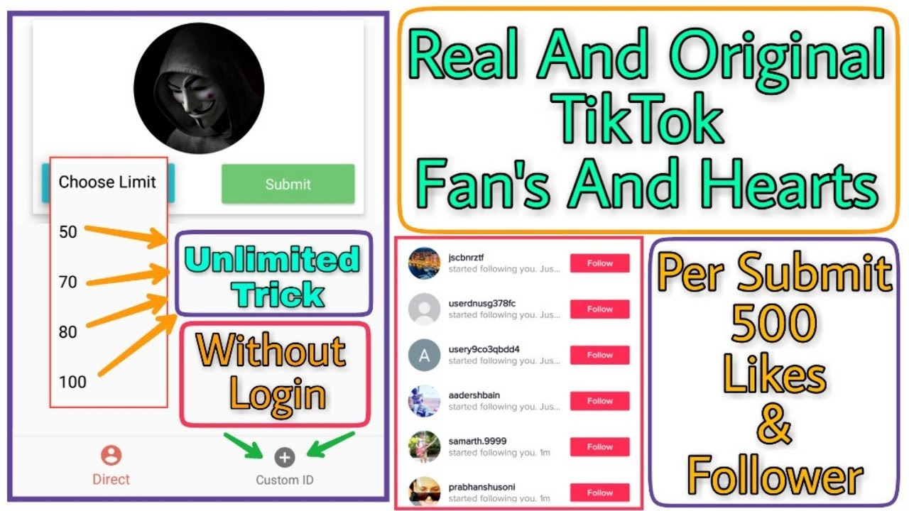 How To Increase TikTok Fans & Heart's 2019 || Get 50k Likes & Followers  Free Every Day 2019