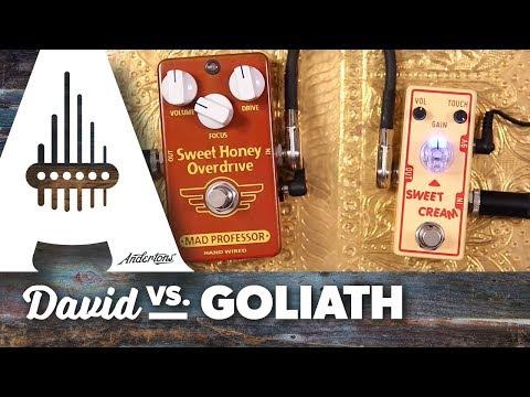 David vs. Goliath - Tone City Sweet Cream vs. Mad Professor Sweet Honey Overdrive