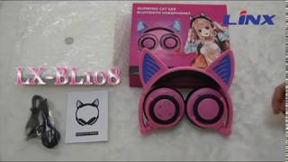 Fashionable Cartoon Cat Ear Bluetooth Headphone LX-BL108