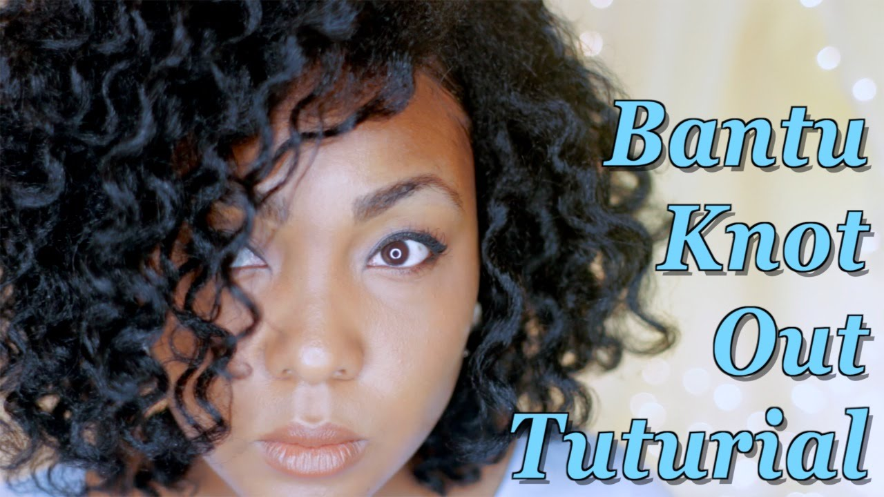 Perfect Smooth Amp Sleek Bantu Knot Out On Natural Hair No