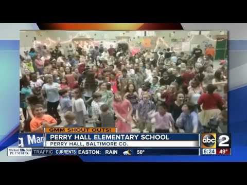 The students of Perry Hall Elementary School give an enthusiastic GMM shout-out