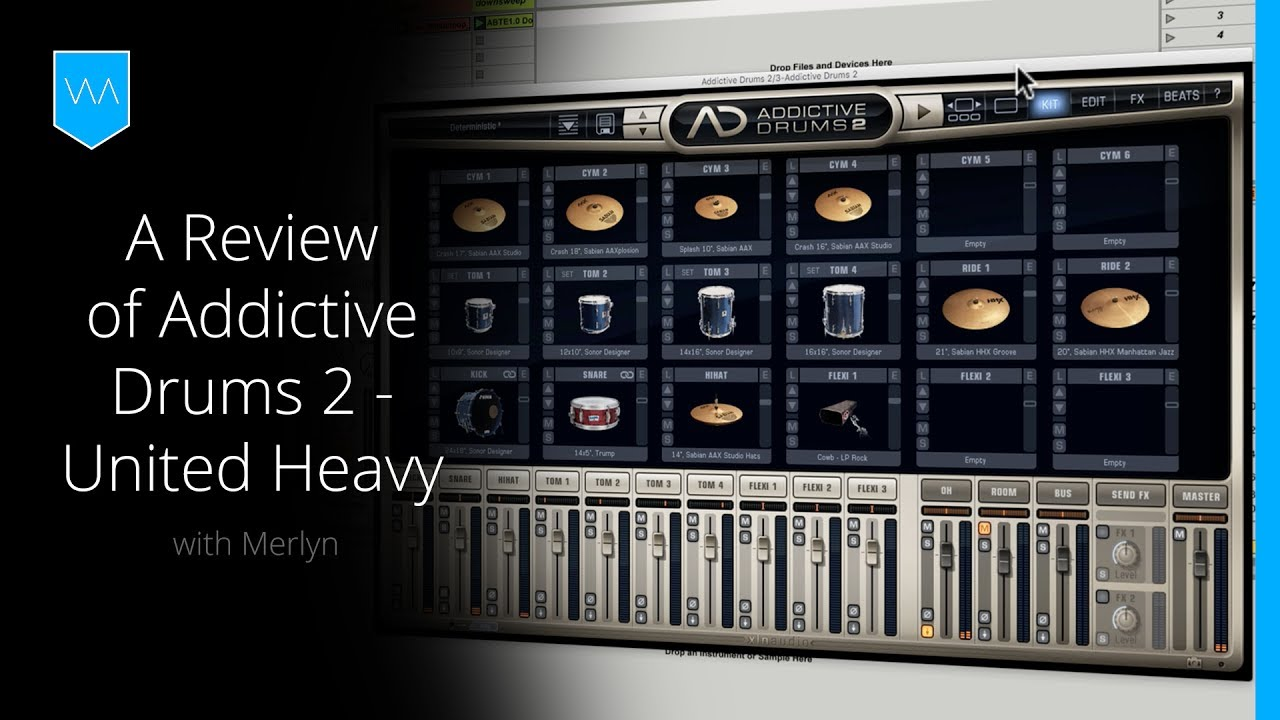 A Drum Kit Built for the Electronic Music Producer: Addictive Drums 2 -  United Heavy