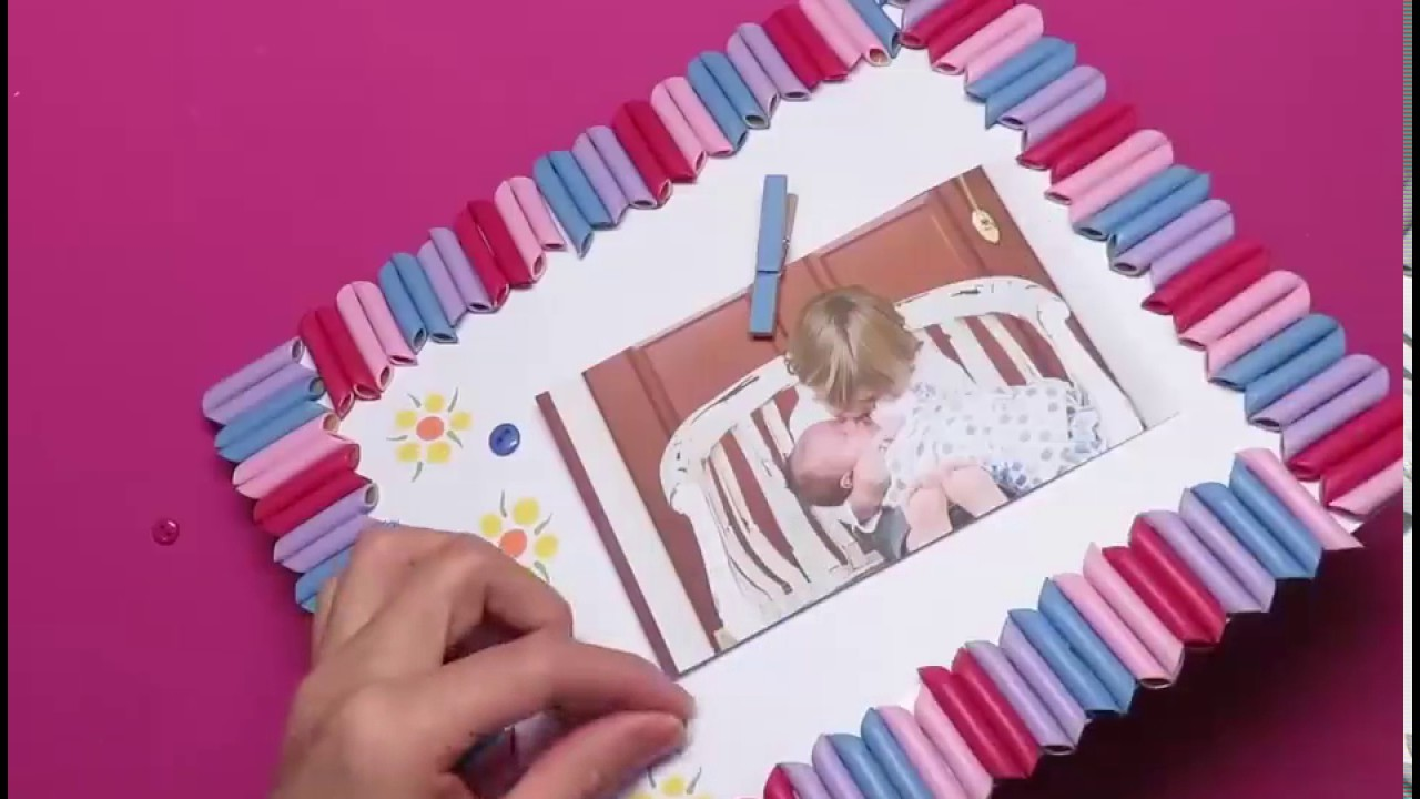 How to make cute picture frame youtube how to make cute picture frame jeuxipadfo Choice Image
