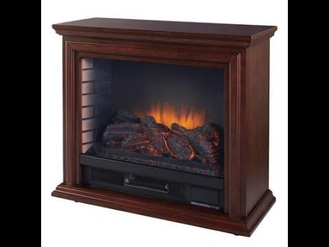 Hampton Bay Compact Infrared Electric Fireplace in Cherry