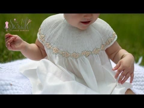 Beautiful Smocked Bishop With Bound Sleeves   Sewing Tutorial