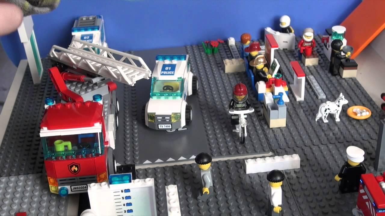 Обзор Лего сити полицейский участок 7498 - YouTube