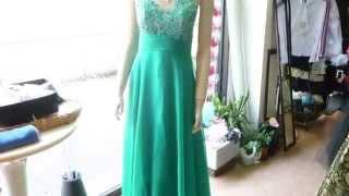 グリーンスパン刺繍付ステージドレス