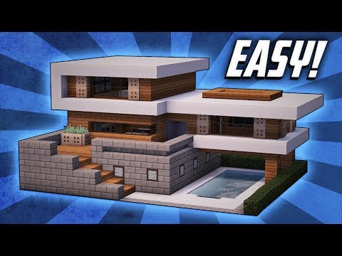 Minecraft: How To Build A Large Modern House Tutorial (#19)
