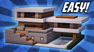 Minecraft: How To Build A Large Modern House Tutorial  #19