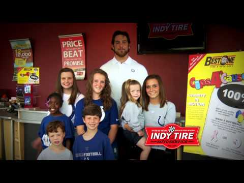 Indy Tire Caps 4 A Cause with Anthony Castonzo