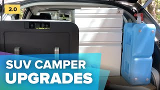 Car camping kitchen orgaฑizing ideas, Roofbag for extra space, Ryobi + Goal Zero Yeti upgrades