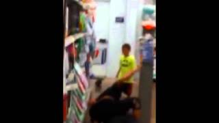 Two Indiana Women lock up in a Mortal Catfight with kid at a Walmart... 6/9/15