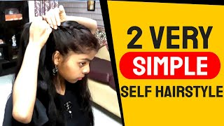 2 Very Simple & Easy Self hairstyle for Girl's//Girl's Hairstyle// Hairstyles.