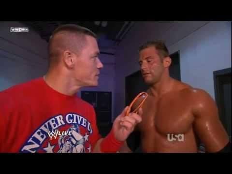 WWE RAW 9/5/11 John Cena & Zack Ryder Funny Segment