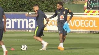 Brazil World Cup Squad Train At Tottenham's Training Ground