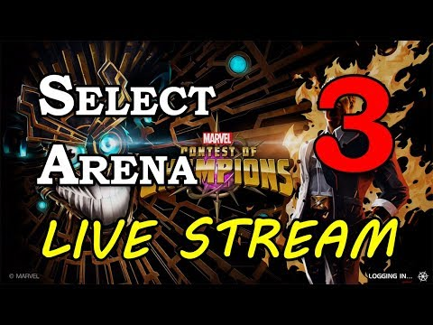 Select Arena - Part 3 | Marvel Contest of Champions Live Stream