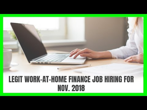 Legit Work-At-Home Finance Job Hiring for November 2018