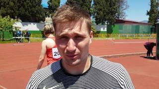 Интервью с Дмитрием Тарабиным - победителем командного чемпионата России в метании копья - 80,70 м