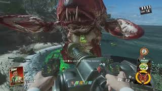 Attack of the radioactive thing Solo Boss Fight IW Zombies Ending Cut Scene