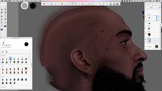 NIPSEY HUSSLE DIGITAL SPEED PAINT 'REST EASY KING'