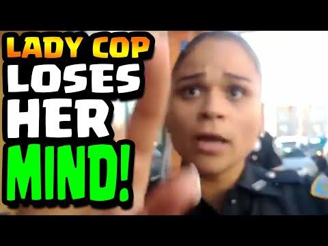 LADY COP LOSES HER MIND - 1st AMENDMENT AUDIT - Cop Watch