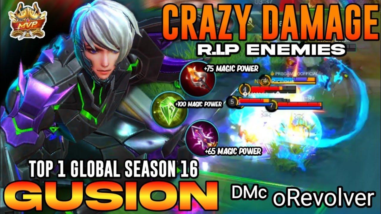 GUSION 18KILLS!! Brutal Damage Build Fast Hand ! [ Top 1 Global Gusion S16] GUSION GAMEPLAY