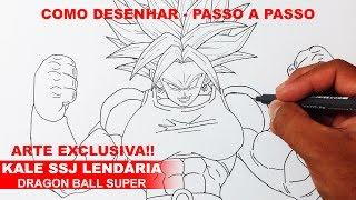 Como Desenhar a Kale SSJ Lendária - Dragon Ball Super #1