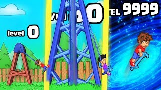 HOW HIGH IS THE STRONGEST HIGHEST POGO SWING EVOLUTION? (9999+ UPGRADE LEVEL) l Pogo Swing!