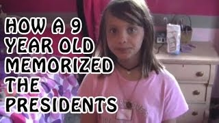 9 Year Old Chloe Memorize Presidents of USA | Memory Training | How to Memorize Presidents