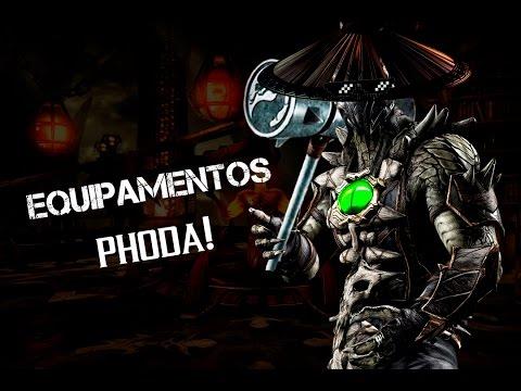 Mortal Kombat X Mobile: Equipamentos Phoda!