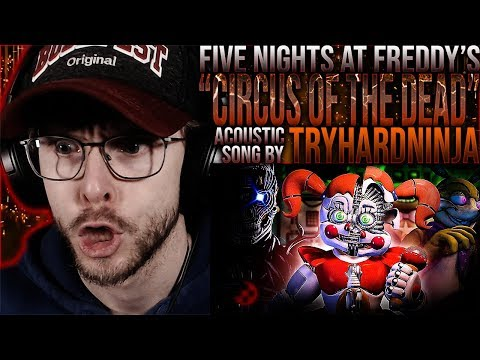 """Vapor Reacts #1094 [SFM] FNAF SONG ACOUSTIC ANIMATION """"Circus Of The Dead"""" By TryHardNinja REACTION!"""