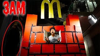 3AM McDonalds GIANT BOX FORT ! *24hrs Over NIGHT Challenge!!*