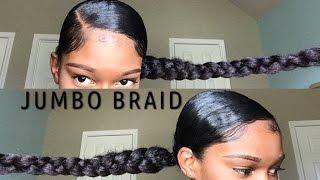 Jumbo Braid ponytail With Kanekalon Hair  | Natural Hair