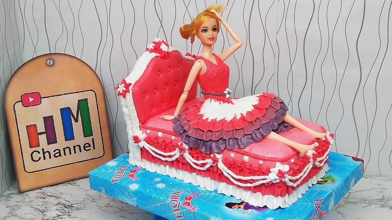 Kue Ulang Tahun Barbie Cake Decoration Ideas For Birthday Barbie Cake Youtube