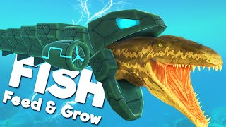 PREHISTORIC PROGNATHODON vs GIANT MECHA EEL! | Feed and Grow Fish