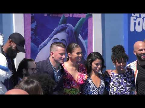 Zendaya, Lebron James, Channing Tatum and Gina Rodriguez arriving to the Smallfoot Premiere at Westw