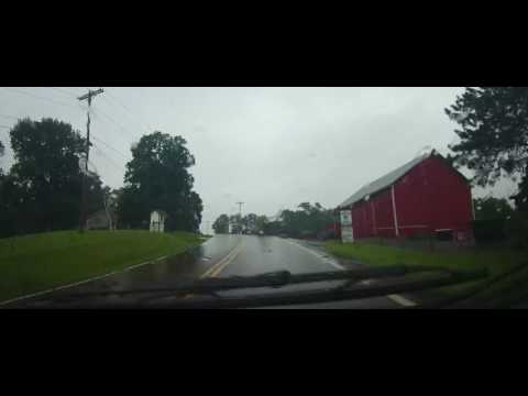 Driving on Ohio Route 515 and US 62 in Holmes County in the rain