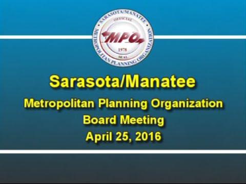 MPO Board Meeting 4/25/2016