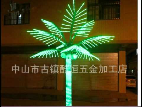 Coconut tree Lights up