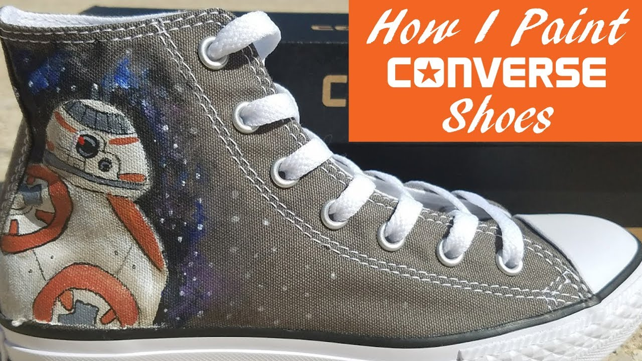 a5679f8fee6f How I Paint Converse Shoes For My Etsy Shop! - YouTube