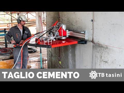 Taglio Cemento Armato con disco diamantato TB TASINI