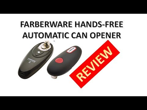 Review Farberware Professional Can Opener Hands Free Automatic Youtube