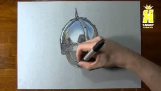 Марцелло Баренчи реалистичный рисунок Шлема викинга