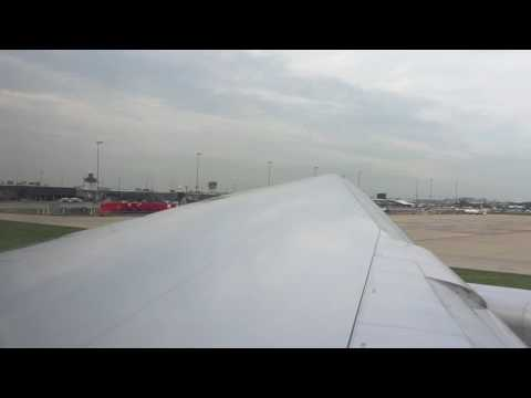 United Airlines 777-200 Pushback, Taxi and Takeoff from Washington - Dulles