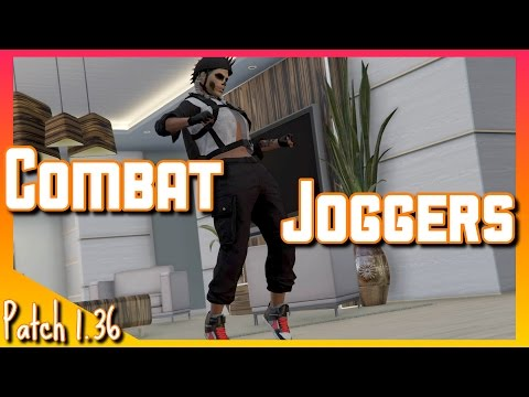 Female Character Black Combat Joggers | GTA V online Gameplay (PS4)