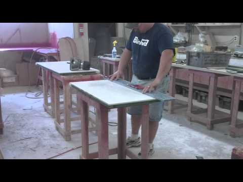 Time Lapse video making of 2 solid surface vanity countertops
