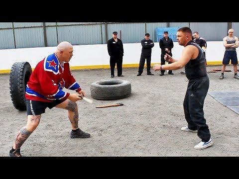 Драки в тюрьме / Боец MMA заставил зэков заниматься спортом