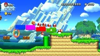 New Super Mario Bros. U - Acorn Plains-1 - The great power-up march (Wii U)