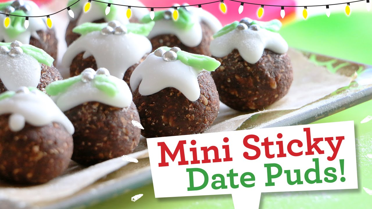 Fun Christmas recipe... easy, no-bake, Mini Sticky Date Puds! - YouTube